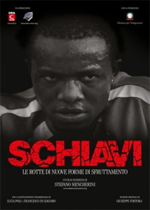 Promotieposter van de documentaire Schiavi (http://www.stefanomencherini-film.eu/home/index.php?option=com_content&view=article&id=24&Itemid=192)